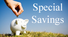 SPECIAL SAVINGS title=